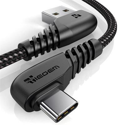 TIEGEM 90 Degree USB Type C Cable 3A USB-C Cable Type-C Fast Charging Cables