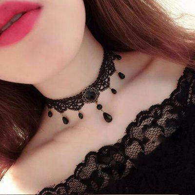 European Style Fashion Vintage Gothic Multi-Layer Crystal Lace Choker Necklace
