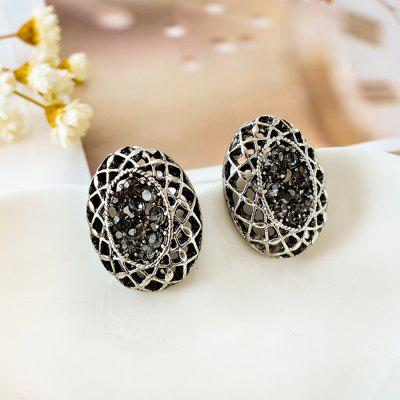 Female Fashion Vintage Earrings Nest Ancient Silver Wedding Jewelry Ear Pin