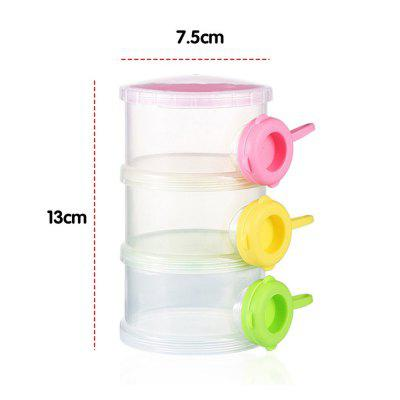 Baby's Storage Box 3 Layers Multi-Functional Milk Powder Container Portable Case