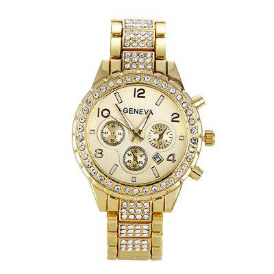 Ladies'Luxurious Simple Casual Stainless Steel Quarzo Watch
