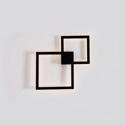 Modern LED Wall Light Bedroom Lights Geometry Square Lamp