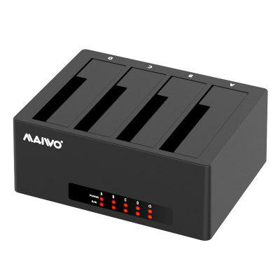 maiwo K3084C 4-Bay SATA Hard Drive Docking Station USB-C 2.5/3.5 inch HDD SSD