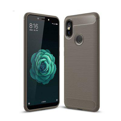 Koffer voor Xiaomi Mi A2 Luxe Carbon TPU Soft Cover