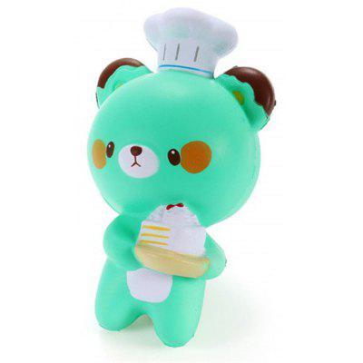 Jumbo Squishy Cartoon Chef Bear Slow Rising Collection Decoration Toy