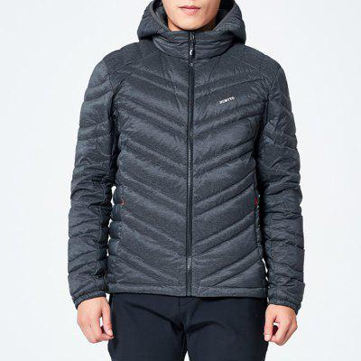HUMTTO Men's Down Jacket Ultra Light Hooded White Duck Down Water Repellent Coat