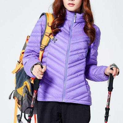 HUMTTO Women Down Jacket Ultra Light Hooded White Duck Down Water Repellent Coat