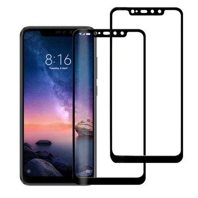 2PCS 3D 0.26mm Full Cover Pellicola vetro temperato per Xiaomi Redmi Note 6 Pro