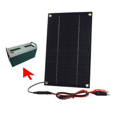 SWR6018B 6W 18V Mono Solar Panel Charger for 12V Battery with Battey Clip