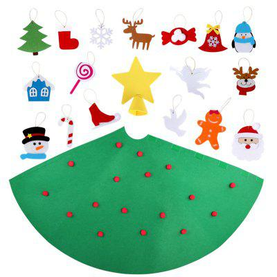 3D DIY Felt Toddler Christmas Tree New Year Kids Gifts Toys Artificial Tree