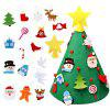 3D DIY Felt Toddler Christmas Tree New Year Kids Gifts Toys Artificial Tree - JUNGLE GREEN