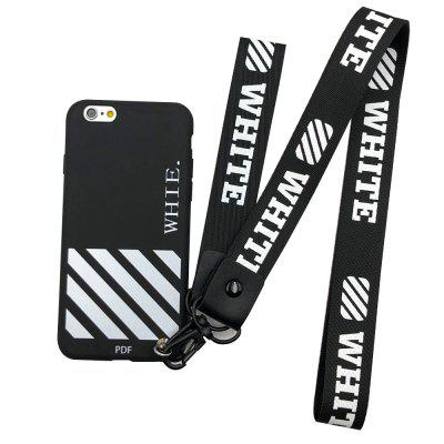 Case for iPhone 6 Rope English Stripe Candy Color Soft Flexible Protective
