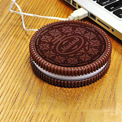 Creative Living Modelling of Biscuits USB Heating Cup Mat Office Heat The Coffee