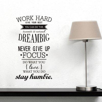 Inspirational Letter Words Patterned PVC Wall Sticker
