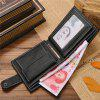 Men'S Contracted Fashion Leather Wallet Purse - BLACK