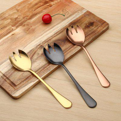 3PCS Stainless Steel Fruit Salad Fork Thickened Quality Fork