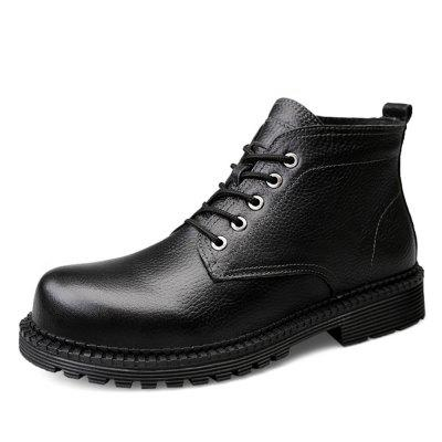 Cuir Casual Hommes Bottes Chaussures