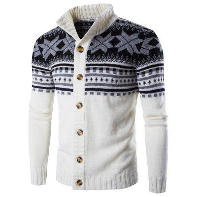 Christmas Men's Single-breasted Bottom-knitted Cardigan