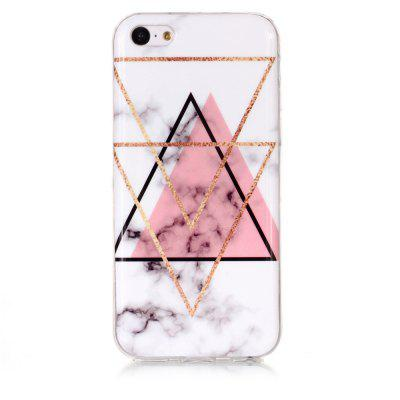 Inverted Triangle Powder Marble for iPhone 5 C