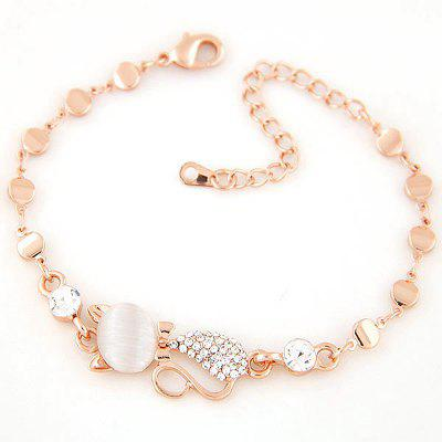 European Style Fashion Sweet Shiny Rhinestone Cute Cat Bracelet