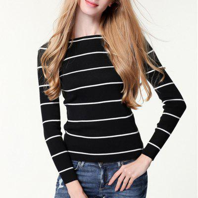 New Striped Knitted Pullover
