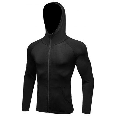 Fitness Training Long-sleeved Zipper Hoodie Quick-drying Jacket