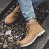 Male Work Marten Ankle Boots Men Motorcycle Outdoor Travel Shoes - CARAMEL