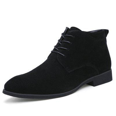 Fashion Male Work Shoes Warm Cotton Winter Ankle Boots