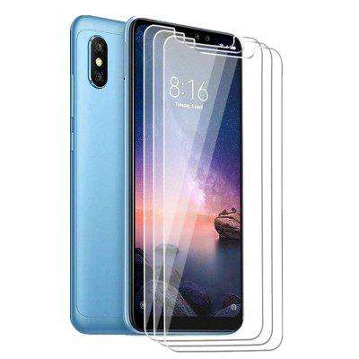 3PCS 9H 2.5D Tempered Glass Screen Protective Case for Xiaomi Redmi Note 6 Pro