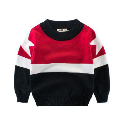 Children'S Color Matching New Sweater Boy'S Sweater Baby Clothes