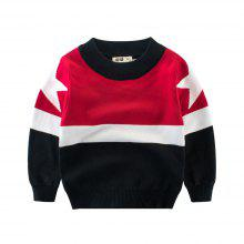 94cb12d81c45 Children'S Color Matching New Sweater Boy'S Sweater Baby Clothes