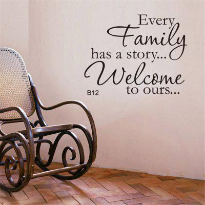 Family Have A Story Art Vinyl Mural Home Room Decor Wall Stickers