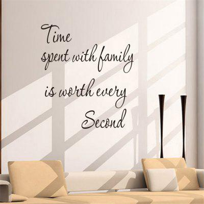 Time Spend with Family Art Vinyl Mural Home Room Decor Wall Stickers