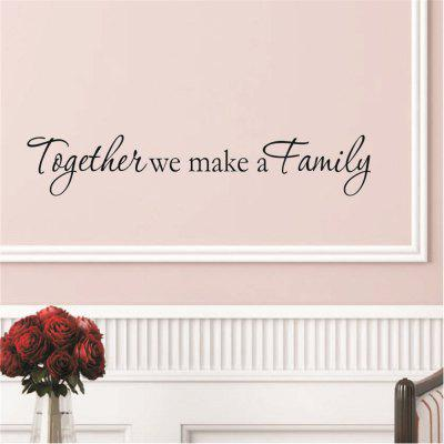 Together We Make A Family Art Vinyl Mural Home Room Decor Wall Stickers