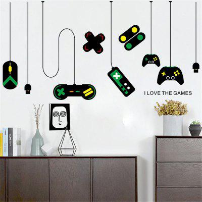 Game Handle Sticker de perete joc de perete de decorare autocolant Removable