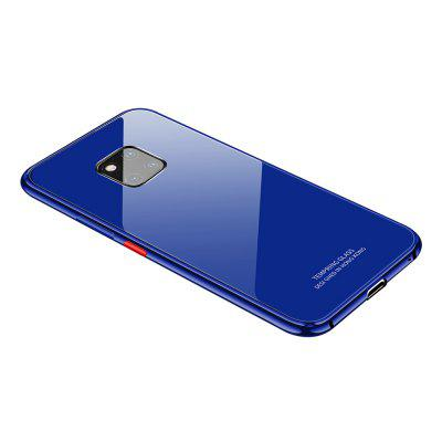 Bumper Case Metal Frame Tempered Glass Back Cover for Huawei Mate P20 Pro