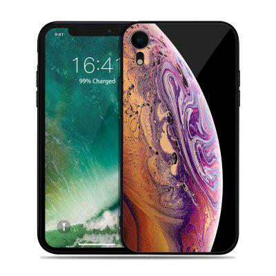 Luxury Brand Tempered Glass Silicone Bumper Cover for iPhone XR