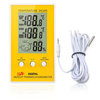 DC105 LCD Digital Thermometer Hygrometer Weather Station Household Indoor