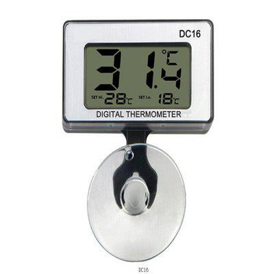 DC-16 Digital Mini Waterproof LCD Display Aquarium Thermometer + Suction Cup