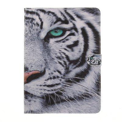 Tiger Head Flat Leather Case for iPad 2017 9.7 Inch