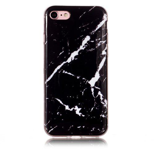 new arrivals 72c5b 4e64e Black Thick White Marble for iPhone 7/8