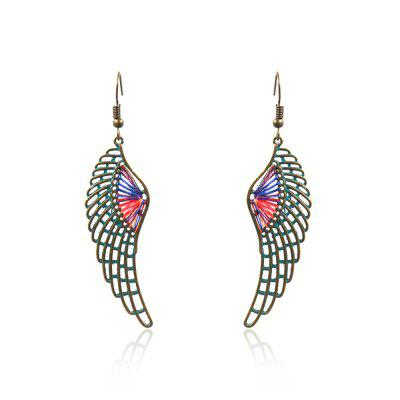 Vintage Ethnic Free Wings Drop Earrings Hanging Dangle for Women Fashion Jewelry