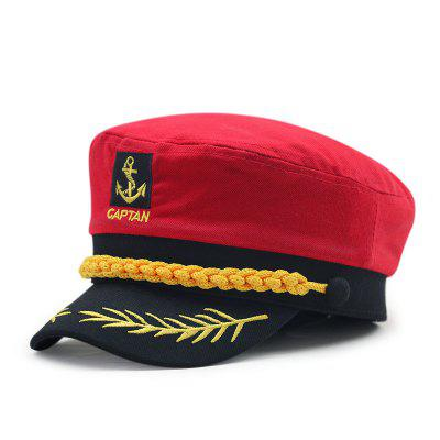 b03ce5d13b87d Wheat ear embroidery captain cap + size code for 56-57cm head circumference