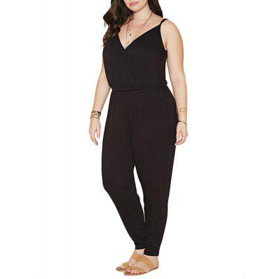 Summer Style Rompers Womens Jumpsuit Solid Plus Size Women Clothing 4XL 5XL 6XL