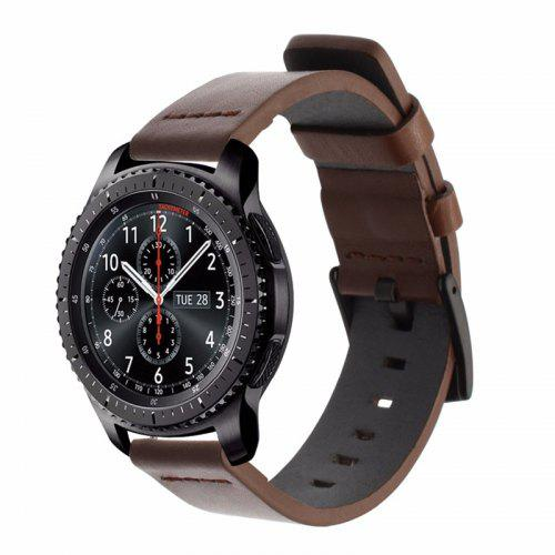 544d19399dc 22MM Belt Genuine Luxury Leather Band Strap For Samsung Gear S3 Frontier  Classic