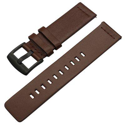 22MM Belt Genuine Luxury Leather Strap for AMAZFIT 2 Sport Watch