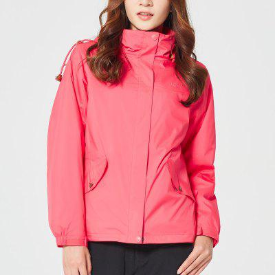 HUMTTO Hiking Jackets Women Hooded Zipper Camping Coat Winter Thermal  Outerwear