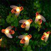 LED Little Bee Lights String Wedding Festival Decorazione Lights Battery - BIANCO CALDO