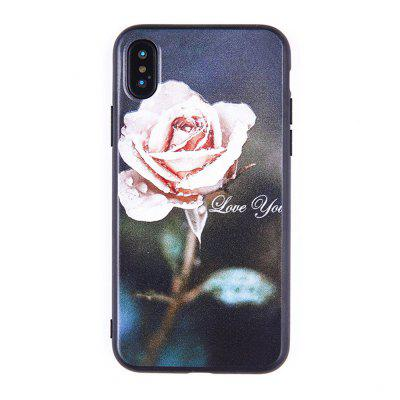 Retro Rose Pattern Glass Case Hard Back Cover Protective for iPhone XR