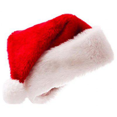 Christmas Thickening Golden Fleecy Cloth Santa Hats hats for Adults and Ch